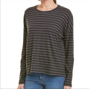 NWT Vince Bengal Striped Long Sleeve Top Size L